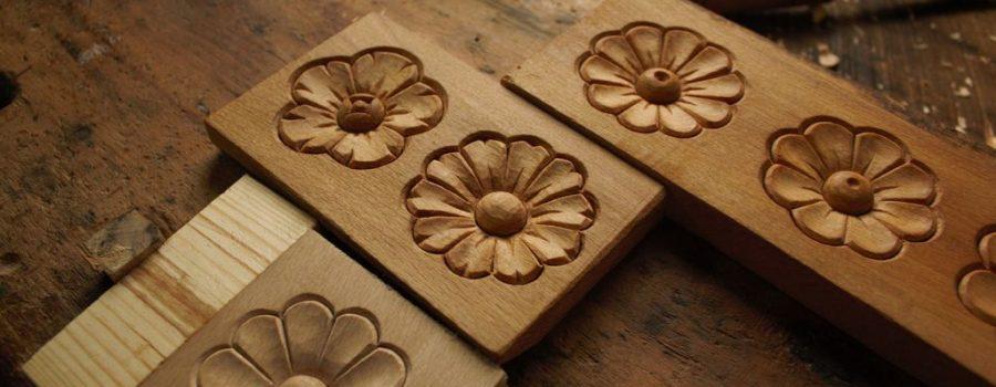 Rosette نحت الخشب بسيط زهرة مجتمع ورشة للتعلم