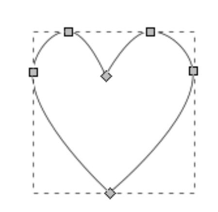 تصميم قلب على  InkScape
