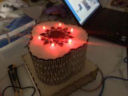 مشروع إضاءه تفاعلية دواره