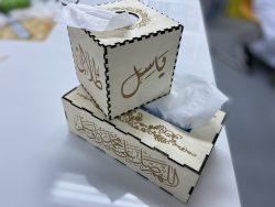 صندوق مناديل خشبي